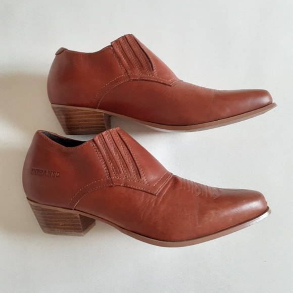🍂 Durango cognac brown leather ankle boots